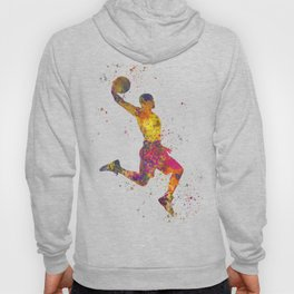 Basketball player 02 in watercolor Hoody