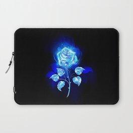Burning Blue Rose Laptop Sleeve
