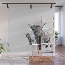 HIGHLAND COW - LULU & SARA Wall Mural