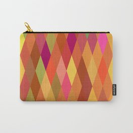 Summer Heat Harlequin Abstract Geometric Carry-All Pouch