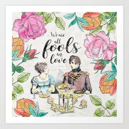 Pride and Prejudice - Fools in Love Art Print