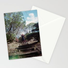 Dreaming Girl in Onshi-Hakone Park - Hakone, Japan - Holga Film Photograph Stationery Cards