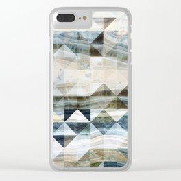 Geo Marble - Natural and Blue #buyart #marble Clear iPhone Case