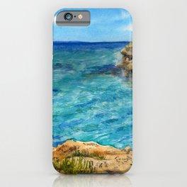 Watercolor sea of Cyprus iPhone Case