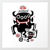 asian Art Prints featuring Asian Demons by Ceskus