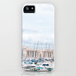Boats in Marseille harbor | France | travel photography art print iPhone Case
