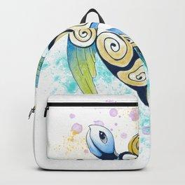 Sea Turtle Tribal Tattoo Watercolor Splash Backpack