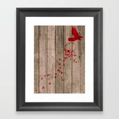 And the birds shall feast... Framed Art Print