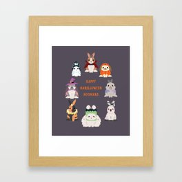 Halloween Rabbits Framed Art Print