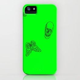 Green Skulls iPhone Case