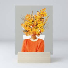 I Saw You Flower in the reflection of my Soul Mini Art Print