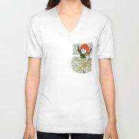 tina crespo V-neck T-shirts featuring Tina&Ape by eva vasari
