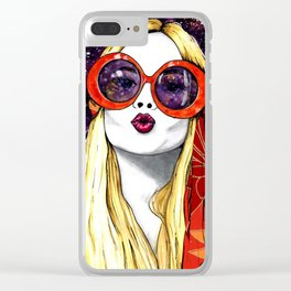 Goodnight Kiss Clear iPhone Case
