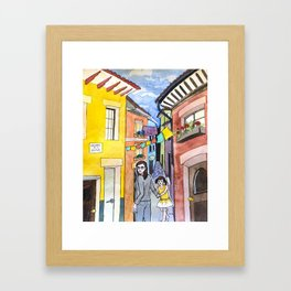 Callejon de la Alma Framed Art Print