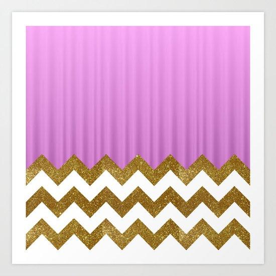 Pink Lodge Art Print