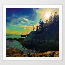 Lighthouse dreaming Art Print