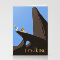 lion king Stationery Cards featuring Lion King by TheWonderlander