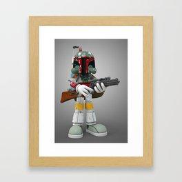 Boba Skull Framed Art Print