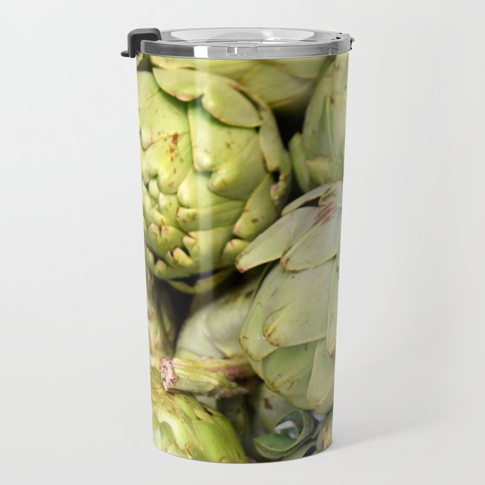 Artichokes | Green | Vegetables | Kitchen |Food Photography | Nadia Bonello Travel Mug