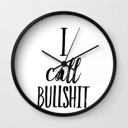 I call bullshit Wall Clock