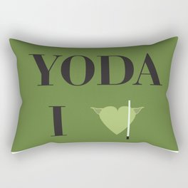 I heart Yoda Rectangular Pillow