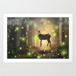 The Magic Deer by GEN Z Art Print