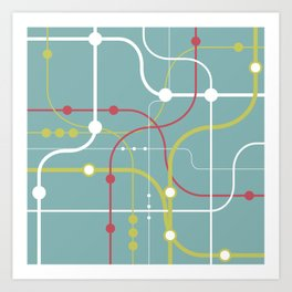 Line By Line - Bubblegum Pop-A Art Print