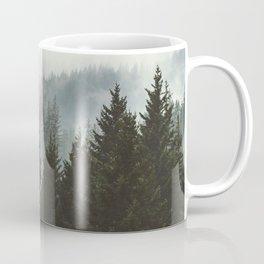 Wanderlust Forest II - Mountain Adventure in Foggy Woods Coffee Mug