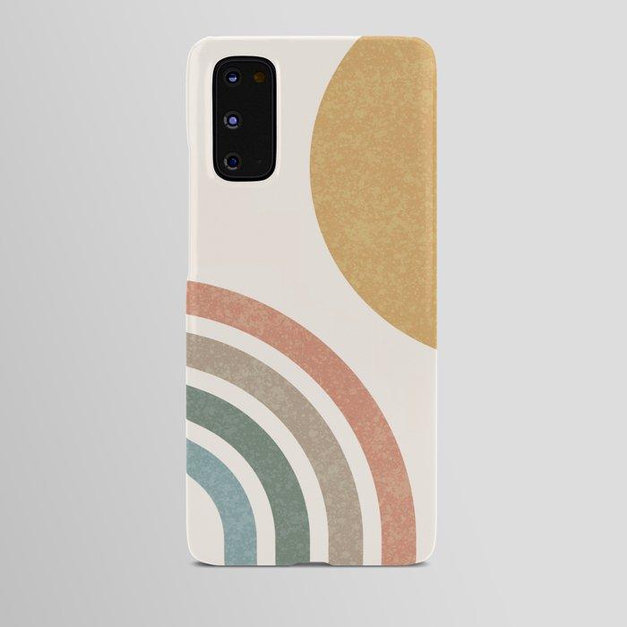 Mid Century Colorful Sun & Rainbow Android Case