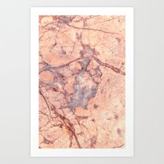 Rose Marble - for iphone Art Print
