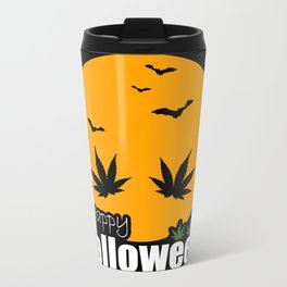 Happy Halloweed Metal Travel Mug