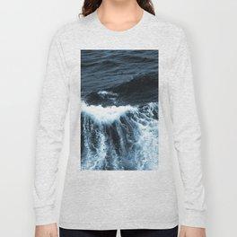 Dark Sea Waves Long Sleeve T-shirt