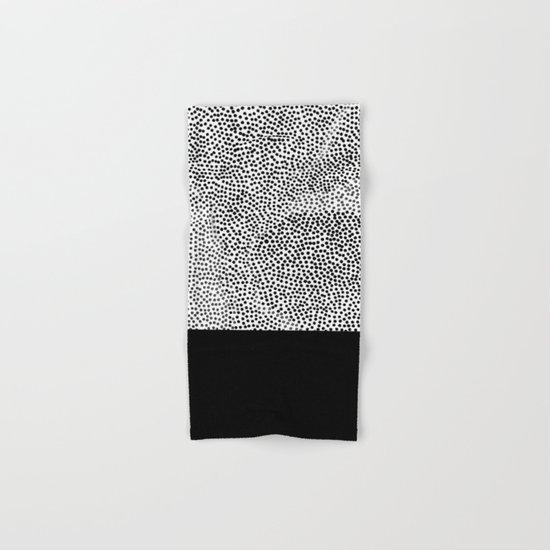 Dots and Black Hand & Bath Towel