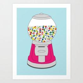 Sweet Addiction: Gum Pills Art Print