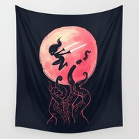 kraken Wall Tapestries featuring Kraken by Freeminds