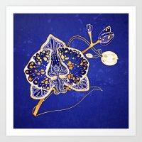 Egyptian Blue :: Orchid Art Print
