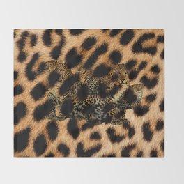 Leopard Shadow Throw Blanket