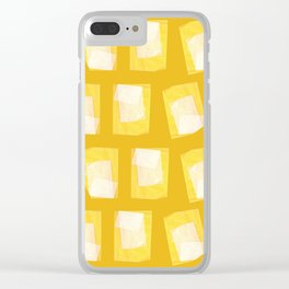 yellow paper Clear iPhone Case
