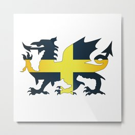 Welsh Dragon Saint David Flag Metal Print