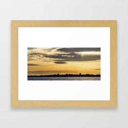 Golden Skies. Framed Art Print