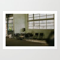 Urbex - waiting room Art Print