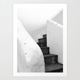 Black and White Stairs Art Print