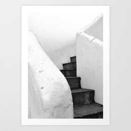 Black and White Stairs Art Print