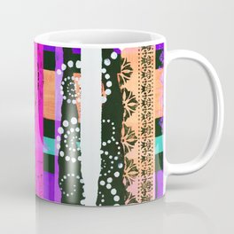 Lace Swirls and Dots Abstract Coffee Mug