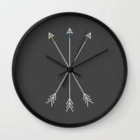gray Wall Clocks featuring Killers (Gray) by Zeke Tucker