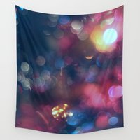lights Wall Tapestries featuring Lights by Jeremy Jon Myers