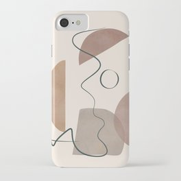 Minimal Abstract Shapes No.62 iPhone Case