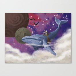Flying Whale Canvas Print
