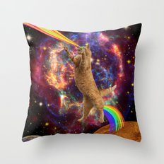 CAT SPACE  Throw Pillow