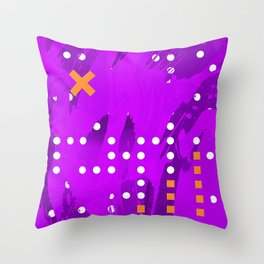 Purple Abstract Passion Throw Pillow